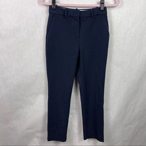H&M Cropped Chino Pants Navy Blue Womens Size 2